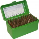 MTM AMMO BOX 50 Medium Magnum RIFLE FLIP-TOP Green