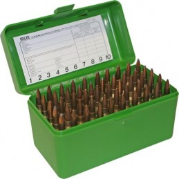 MTM AMMO BOX 50 Medium RIFLE FLIP-TOP