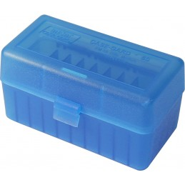 MTM AMMO BOX 50 Small Short RIFLE FLIP-TOP Blue