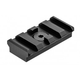 UTG PRO M-LOK 4-Slot Picatinny Rail Section, Black