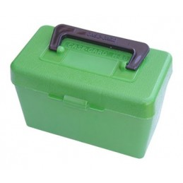 MTM AMMO BOX Deluxe H-50 Series Large RIFLE FLIP-TOP with Handle