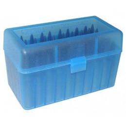 MTM AMMO BOX 50 Large Magnum RIFLE FLIP-TOP Blue